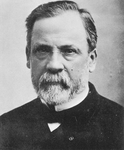 This black and white photo shows french chemist louis pasteur he was