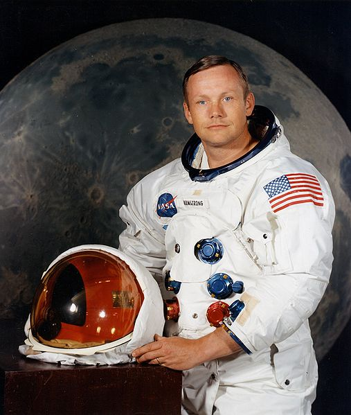 A NASA photo of legendary American astronaut Neil Armstrong, the first person to walk on the moon.
