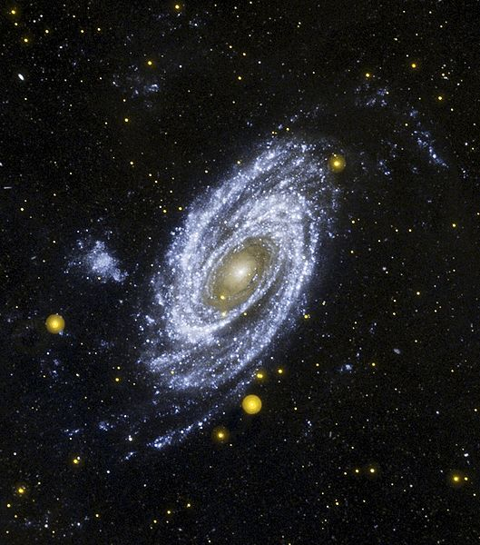 An amazing photo of the M81 spiral galaxy taken by the Hubble Space Telescope.