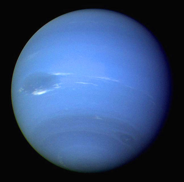 A beautiful photo taken of Neptune by Voyager 2.
