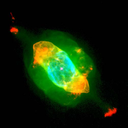 A photo of an amazing planetary nebula taken by the Hubble Space Telescope.