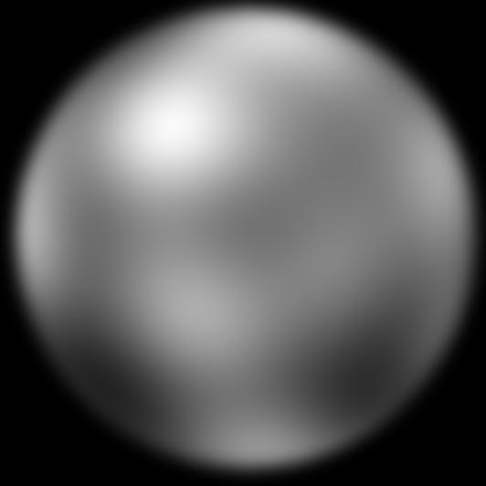 A photo of Pluto taken by the Hubble Space Telescope. The photo is not clear due to Pluto's small size and large distance from Earth.