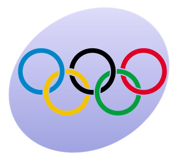 This is an image of the Olympic Rings, the symbol of the winter and summer Olympic Games.
