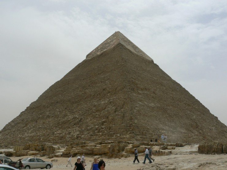 The Pyramid of Khafre is one of the amazing Ancient Egyptian Pyramids of Giza. It is the second largest of the group and holds the tomb of a pharaoh named Khafre.