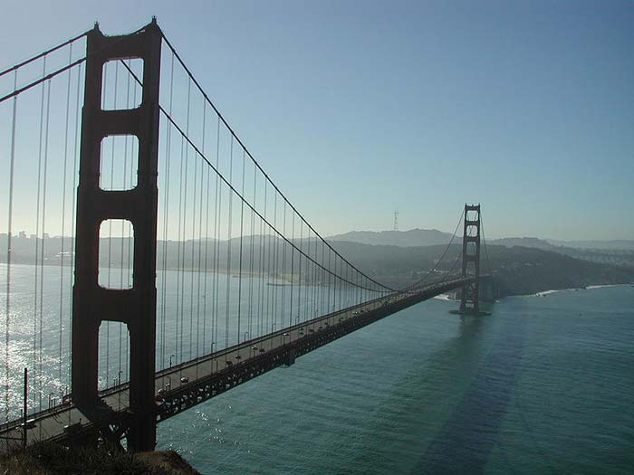 The Golden Gate Bridge is a famous suspension bridge that reaches over the San Francisco Bay. Completed in 1937, the Golden Gate Bridge is a well known landmark that attracts a large number of tourists and photographers.