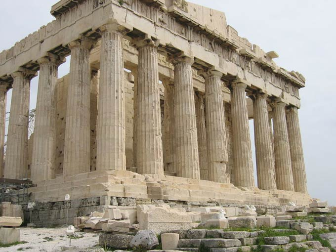 The Parthenon was built nearly 2500 years ago as a temple to the Greek goddess named Athena. Built on the Athenian Acropolis it remains to this day as an important symbol of ancient Greece.