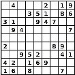 Easy sudoku puzzle number 3