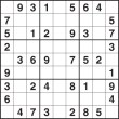 Easy sudoku puzzle number 6